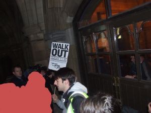 SWP preventing people from breaking into vice chancellors offfice