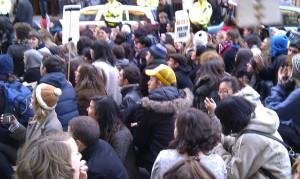 Sit down protest outside Srtathclyde University