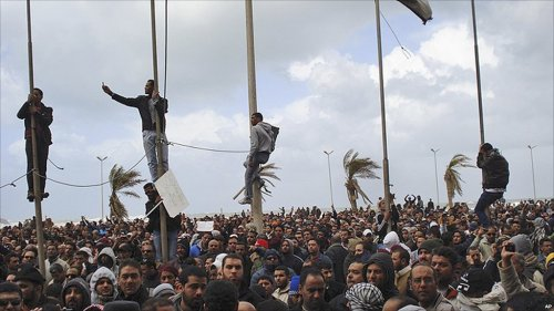 image of Libyan protests day 5